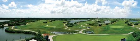 图文-上海滨海高尔夫球场美景仙湖球场迷人风情