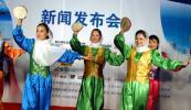 图文-精品名人赛相约马来西亚打起手鼓跳起舞