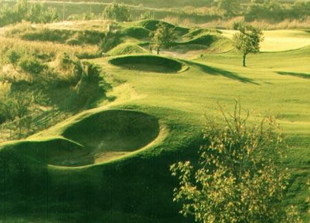 九龙山森林公园图片;; 图文-九松山球场建设美景图建造中的五号球道图片