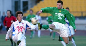 耶里奇梅开二度重庆1-4惨败北京中超积分垫底