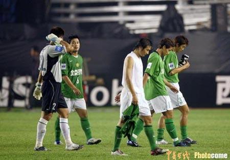北京现代1-1憾平山东鲁能现代痛失到手胜利
