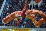 图文-2006中超联赛开幕式金龙起舞象征联赛腾飞