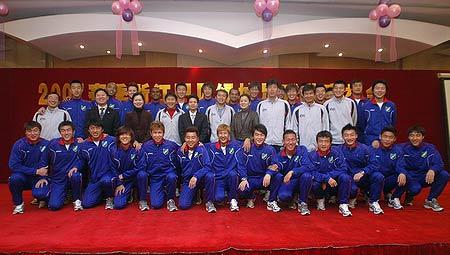 图文-2007中超诸强全家福浙江绿城07赛季全家福