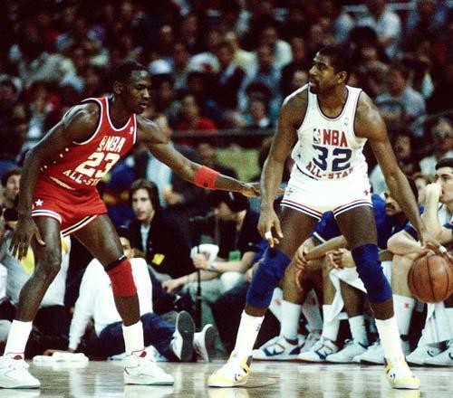 经典回放 NBA历届全明星票王风采 1987年飞人乔丹