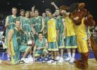 图文-[四国赛]中国58-88负澳大利亚澳队欢庆胜利