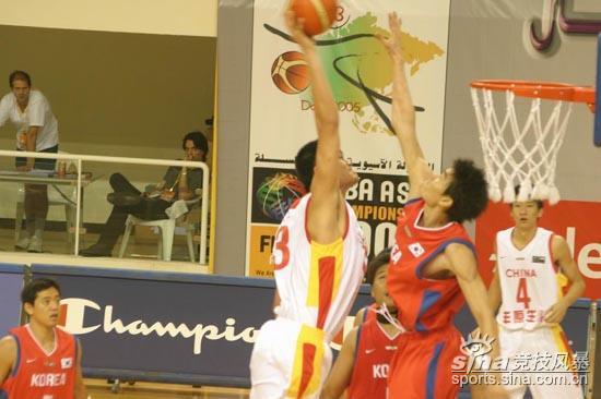 图文-[亚锦赛]中国男篮vs韩国姚明施展战斧灌篮