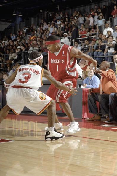 图文-全明星名人篮球挑战赛Bow-Wow严防对手