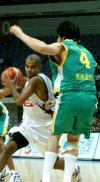图文-[斯杯]法国男篮vs澳大利亚帕克带球突破