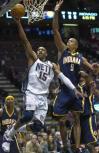 图文-[NBA]步行者95-105篮网卡特飞身上篮