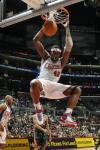 图文-[NBA]雄鹿96-115快船布兰德快攻强力灌篮