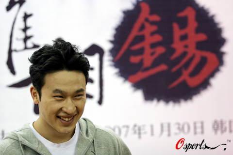 韩国备战中韩篮球明星对抗赛金胜铉驾到
