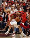 图文-[季后赛]篮网96-98猛龙卡特姿势像游泳