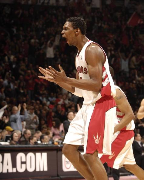 图文-[季后赛]篮网96-98猛龙波什发起冲锋的怒吼