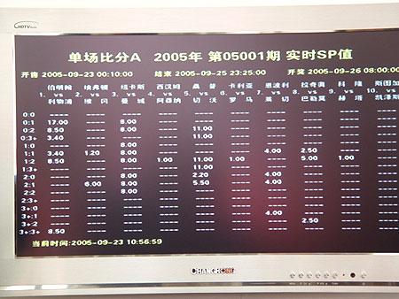 图文-北京单场足彩首发仪式举行现场sp值显示屏