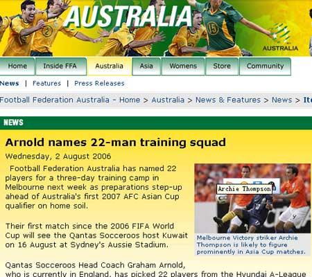 澳大利亚公布备战名单海外无人入选新老队员结合