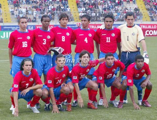 图文-[世少赛]中国1-1哥队哥斯达黎加首发阵容