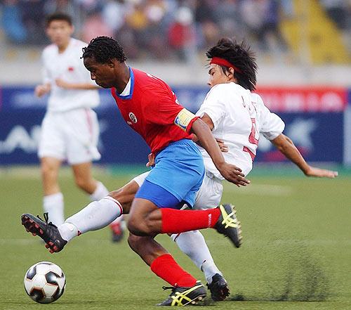 图文-[世少赛]中国1-1哥队古金金先下脚为强