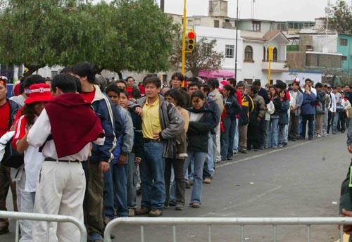 图文-[世少赛]中国VS哥斯达黎加观众入场秩序井然