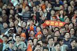 图文-[热身赛]国足0-2塞黑热情的南京球迷