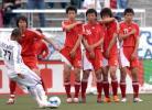 图文-[热身赛]国足0-1皇家盐湖城国脚防守定位球