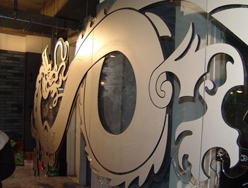 图文-SneakerPimps北京站中国龙样式墙壁