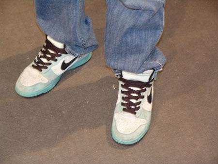图文-上海SNEAKERPIMPS鞋迷现场秀冰蓝ICE