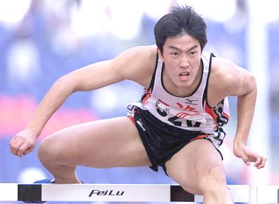 图文-上海刘翔获得九运田径110米栏冠军