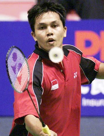 汤姆斯杯决赛 印尼迈纳基不敌马来西亚黄综翰