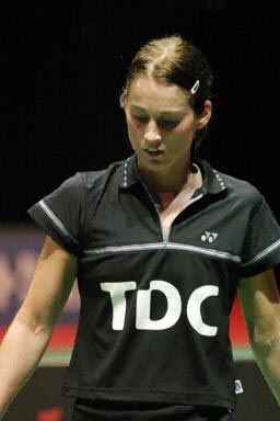 羽球世锦赛中国垄断女单 马尔廷黯然神伤