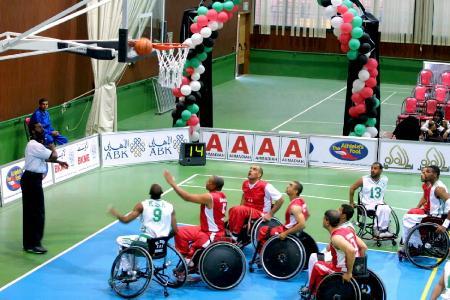 图文-沙特轮椅篮球队参加海湾国家杯轮椅篮球