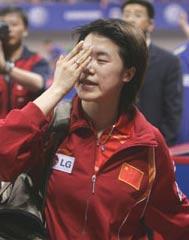 世乒赛女单第三轮爆大冷门卫冕冠军王楠遭淘汰