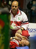 苏迪曼杯丹麦女单受伤急送医院韩国队扳平比分