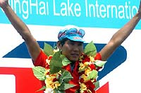 环湖赛第2赛段菲利普夺冠中国台北何欣获黄蓝两衫