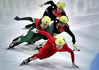 短道速滑世界杯荷兰站王�鞣⑼�夺金李佳军摘银