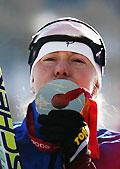 越野滑雪女子15公里追逐赛爱女将夺冠中国无缘前20