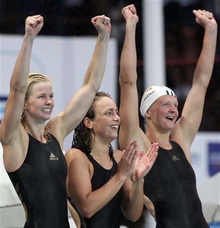 图文短讯-德国女队再创佳绩破4乘200接力世界纪录