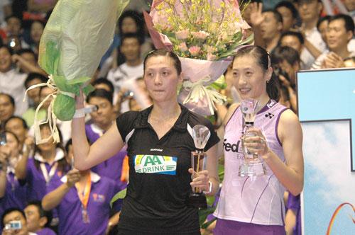 中国赛张宁轻取荷兰名将卫冕中国女单喜迎十连冠