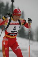 冬季两项世界杯15公里个人赛刘显英射击神勇获第五