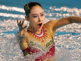 花样游泳单人预赛世青赛冠军黄雪辰列第七进决赛