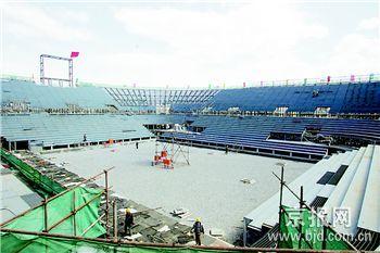 1.7万吨海南沙开运北京沙滩排球场落座朝阳公园