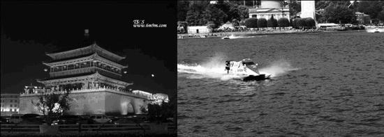 古城与现代体育的碰撞F1摩托艇举办城市西安风情