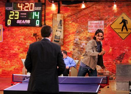 费德勒和女友成眼球焦点他想改打乒乓球?