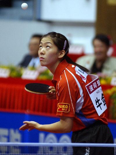 图文-乒乓球女子世界杯揭幕牛剑锋落败柳絮飞