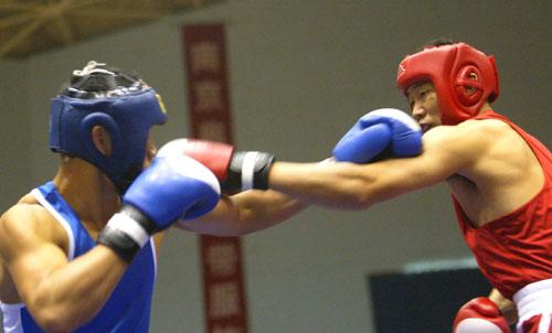 拳交女性欧美_图文-2004南京中国拳击冠军赛 两人双拳交织