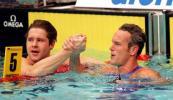 图文-欧洲短池游泳锦标赛福斯特和维恩斯握手