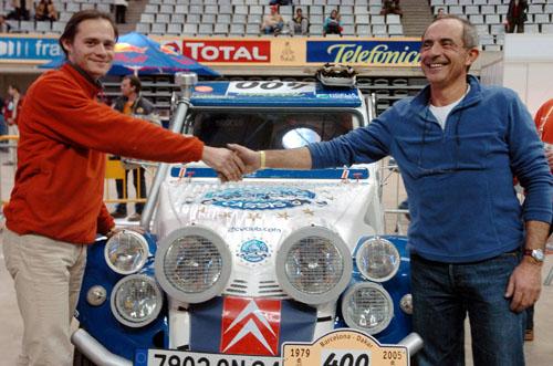 达喀尔拉力赛赛前检测法国车手里巴斯