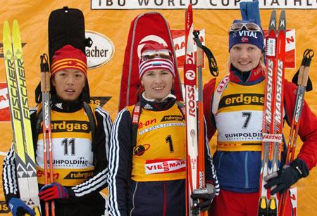 世界杯冬季两项赛德国站刘显英获追逐赛第二