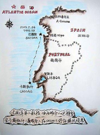 图为阿东手绘地图.