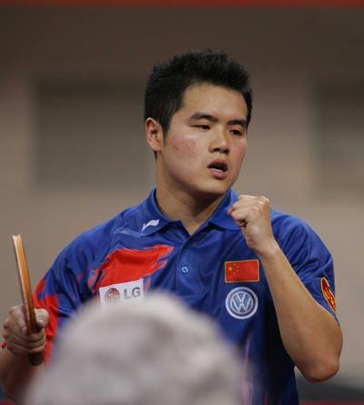 世乒赛男单第三轮激战刘国正赢得相对轻松