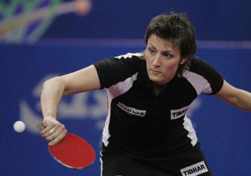 图文-世乒赛女单1/4决赛俄罗斯选手帕夫洛维奇